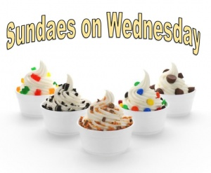 Sundaes on Wednesday