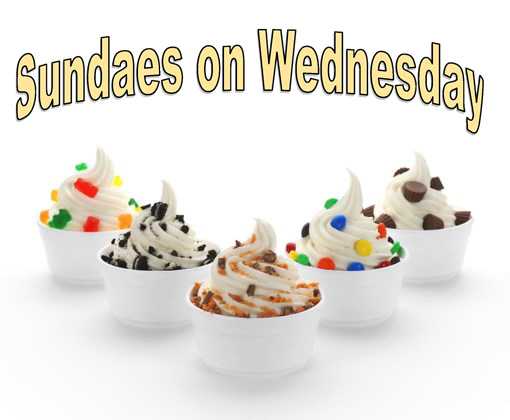 Sundaes on Wednesday