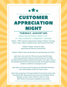 Customer Appreciation Night @ Harmony Community Center