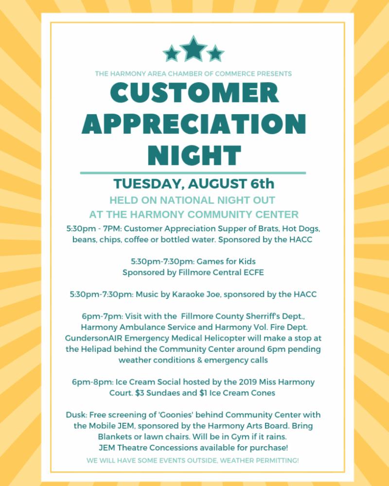 Customer Appreciation Night (Postponed to October)